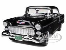 1955 CHEVROLET BEL AIR HARD TOP BLACK 1/18 DIECAST MODEL CAR BY MOTORMAX 73185