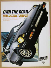 1981 Datsun 280ZX TURBO-ZX black car color photo vintage print Ad