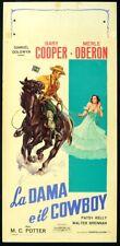 LA DAMA E IL COWBOY The Cowboy and the Lady GARY COOPER, LOCANDINA, MARTINATI