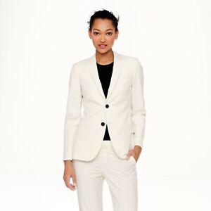 J Crew Ludlow Blazer Jacket 10 Women cream wool/mohair Vitale Barberis Canonico