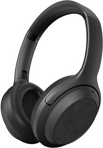 Brookstone Wireless Bluetooth Noise Cancelling Headphones, 30HR Playtime, Black