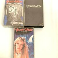 Lot of 3 GREAT WHITE Cassette Tapes Once Bitten On Your Knees