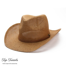 Straw Cowboy Hat Hawkins Sun Cap Mens Womens Band Ladies Fedora Summer