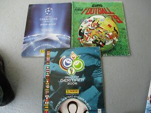 5 ALBUM PANINI FOOT INCOMPLETS EURO79 ET 2016 CHAM LEAGUE 2015  FIFA CUP 2006