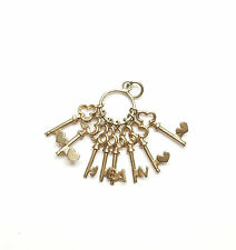 Vintage Jean Keys Gold Charm 9 Carat Yellow Dangling 3.6g