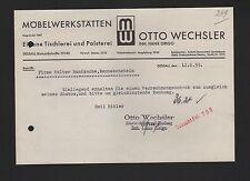 DESSAU, Brief 1939, Otto Wechsler Möbel-Werkstätten