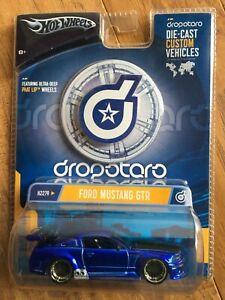 HOT WHEELS DROPSTARS FORD MUSTANG GTR Royal Blue 1:50 Scale