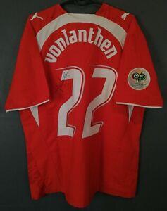 SIGNED ISSUE JONAH VONLANTHEN SWITZERLAND 2006/2008 SOCCER FOOTBALL SHIRT SIZE L
