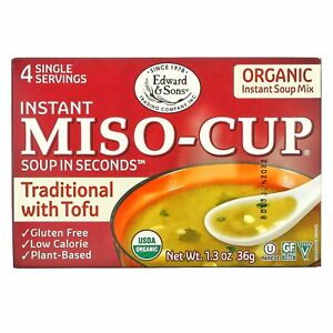 Instant Miso-Cup, Traditional with Tofu, 4 Single Servings, 1.3 oz (36 g)