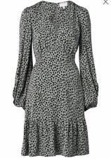 Witchery Leopard Shirred Dress Size 8 NWT