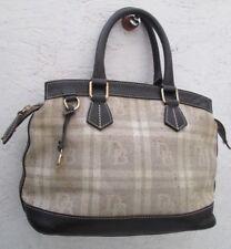 Authentique sac à main en cuir et tissu DOONEY  & BOURKE bag _