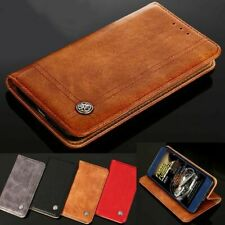 Genuine Luxury Leather Case Cover for Samsung S9 S8 S7 S6 Plus A8 J8 2018