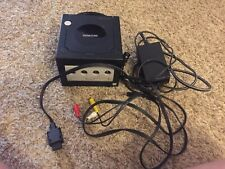 Nintendo Gamecube Black Console System w/ Power & AV Cable Tested