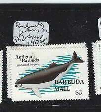 BARBUDA (P3007B) WHALES SC582-5  MNH