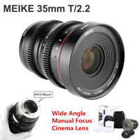 Meike 35mm T2.2 Cinema Lens for MFT M4/3 mount OLYMPUS GH5 G7 G9 GX7 G6 GX9 Cam
