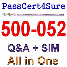 Cisco Best Exam Practice Material for 500-052 exam Q&A+SIM