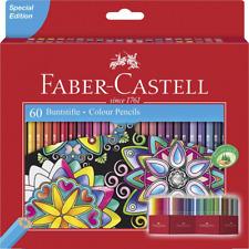 *BEST Faber-Castell Colour Pencils Bright Luminous Classic hexagonal shape x 60