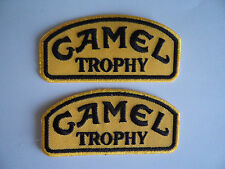 2 Camel Trophy Patches Sew On - Iron On Embroidered Mechanic Overall Patch 4x4