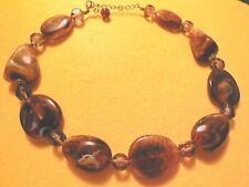 (01730) kurze Halskette - bernsteinfarben - sieht richtig edel aus !!!