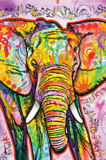 DEAN RUSSO ELEPHANT 24X36 POSTER MODERN ART DECORATIVE DECOR BEAUTIFUL COLORFULL