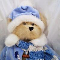 "Trade Secrets Snowball Teddy Bear Plush Stuffed Animal 2003 Blue Jacket Hat 15"""