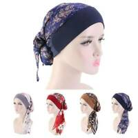 Women Cancer Head Scarf Chemo Hair Loss Hat Turban Pre-Tied Headwear Bandana Cap