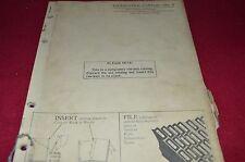 John Deere No. 8 Forage Harvester Dealer's Parts Book Manual PANC