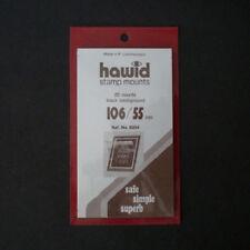 Hawid Stamp Mounts Size 106/55 BLACK Pack of 20