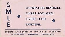 Buvard Vintage  SMLE Société  Marocaine   Casablanca