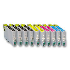 10 Druckerpatronen Tinte für Epson Stylus S20 S21 SX105 SX205 SX405 SX410