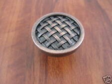 Knob Venetian Bronze Basketweave Kitchen Cabinet Dresser Hardware