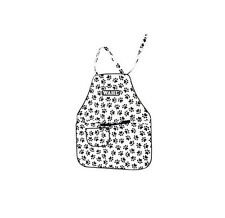 Paw Print Grooming Apron - easy care vinyl water repellant pawprint