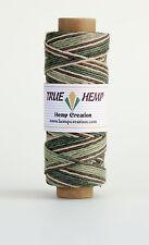 Hemp Cord Variegated FOREST Color 10lb 0.5mm 310feet/95m 50gram Spool