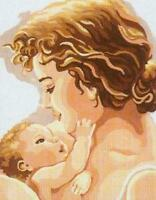 Mother And Child (Woman & Baby) Tapestry Canvas - Collection D'Art