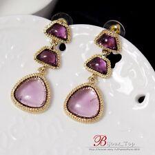 Boucles d`Oreilles Goutte Violet Retro Vintage Soirée Mariage Cadeau AA 3