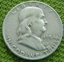 USA Half Dollar 1/2 dollar 1954 D Franklin - silver - KM# 199