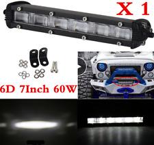 7 pulgadas 60W CREE LED Barra de Luz de Trabajo de Conducción Lámpara de inundación offroad 4WD Camión Barco SUV