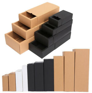 10X Kraft Paper Drawer Boxes Gift Craft Jewelry Packing Box Wedding Party Favor