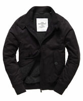 New Mens Superdry Winter Longhorn Harrington Jacket Navy