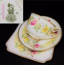 Royal Doulton 1936 Rosamund H4494 Square English Vintage Bone China Trio Set
