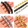 9mm Mens Chain Silver Gold Black Cable Rolo Stainless Steel Necklace Bracelet