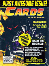 Cards Illustrated Magazine First Awesome Issue #1 SHADOWHAWK W/ Trading Cards