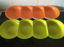 2 Tupperware Allegra Divided Serving Dishes Zesty Orange and Lime Green