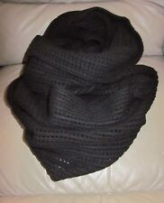 RARE HTF AllSaints HAZE Snood HUGE Scarf Infinity Wrap WARM Woven Wool Black EC