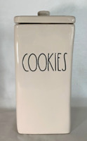 "Rae Dunn Ceramic Long Rectangle ""COOKIES"" Canister  Brand New!"