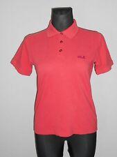 JACK WOLFSKIN Women Poloshirt Kurzarm Shirt Gr.XL / 46 rot  W3/49/R9