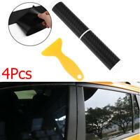 Protection Decorative Window B Pillars 3D Carbon Fiber Anti Scratch Car Sticker