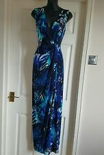 Planet Designer Blue Forest Maxi Dress./Party/Holiday/Wedding/Races/Uk8.WAS £112