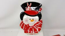 New Listing2008 Fitz and Floyd Sugar Coated Christmas Snowman Canape Plate
