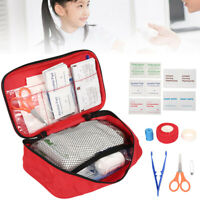 180PCS FIRST AID KIT  MEDICAL EMERGENCY TRAVEL HOME CAR TAXI WORK 1ST AID BAG UK